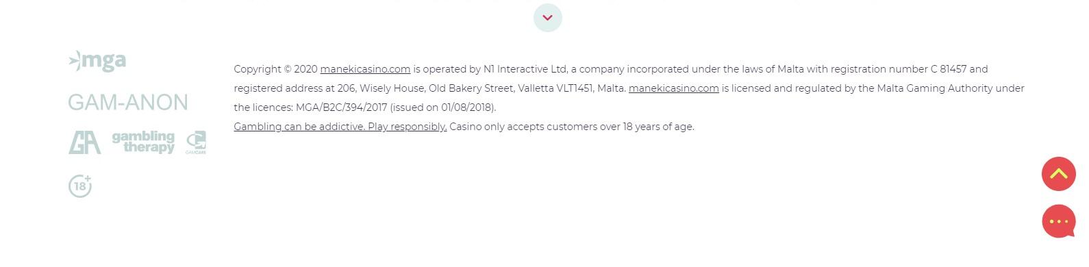 maneki casino licentie